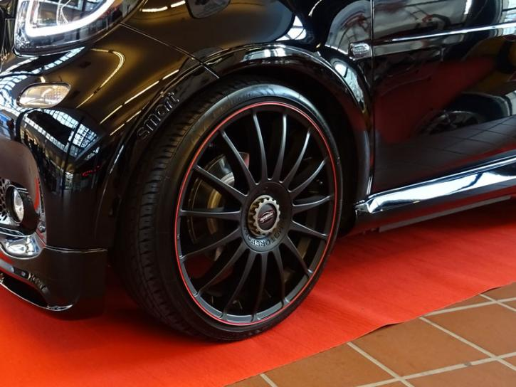 ALUMINIUMFELGEN Monza black red 18