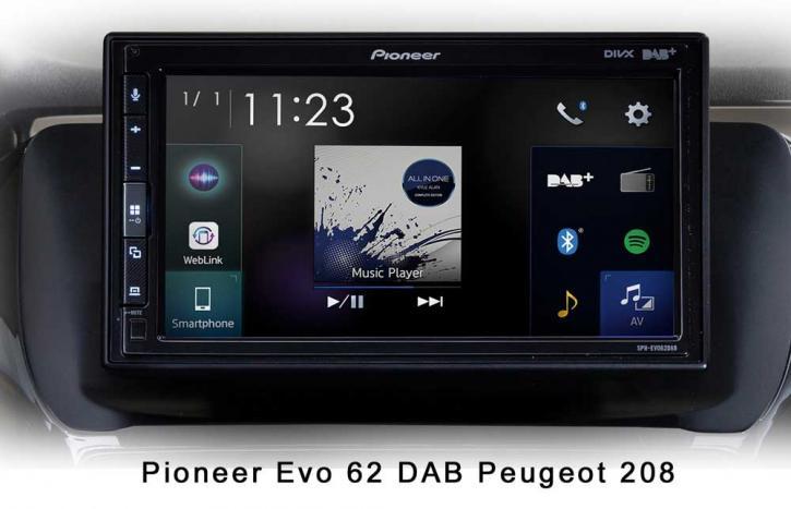 PIONEER SPH-EVO 62 DAB-Peugeot 208