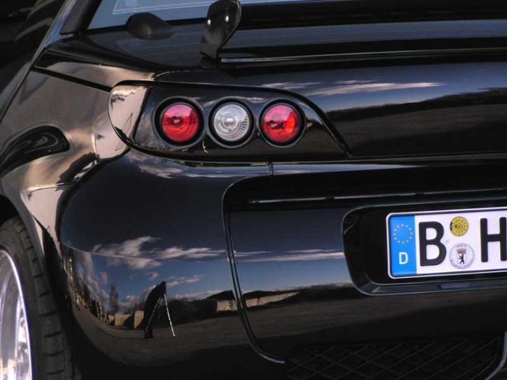 Modulrückleuchten Roadster schwarz