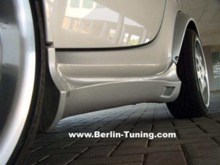 Seitenschweller 1 Coupe Facelift / schwarz matt