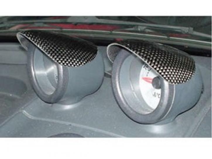 Carbon Zusatzinstrumentenabdeckung Roadster schwarz
