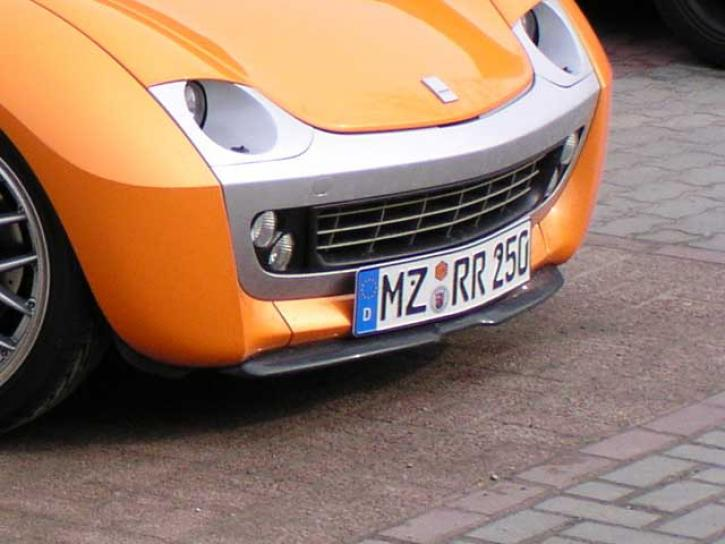 Frontspoiler4 smart Roadster Carbonlook