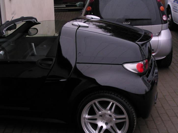 BLACK COLOR SEITENSCHEIBEN ROADSTER COUPE