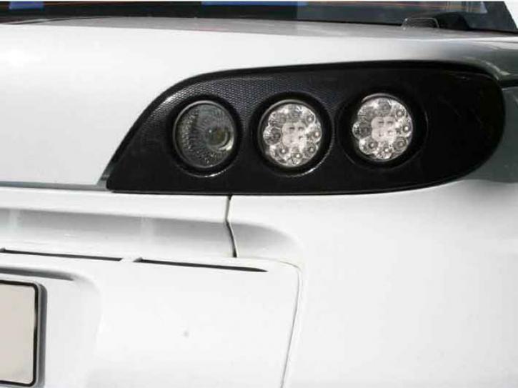 Modulrückleuchten Roadster black LED mit Kabelsatz / schwarz
