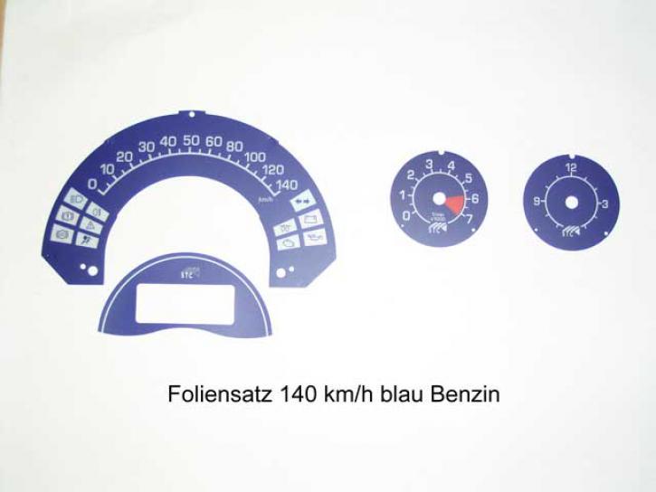 FOLIENSET TachoUhr/DZM blau