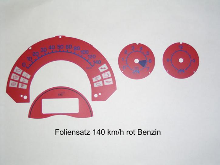 FOLIENSET Tacho/Uhr/DZM rot