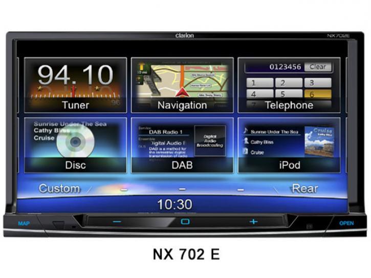 CLARION NX 702 E Navigation mit DVB-T