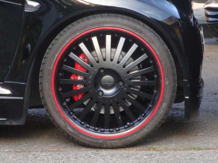 Kompletträder RSL black / red smart 450