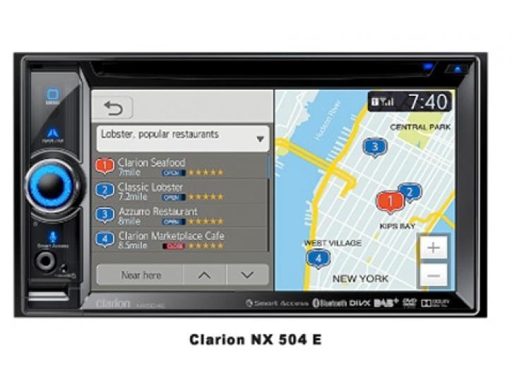 CLARION NX 504 E Navigation