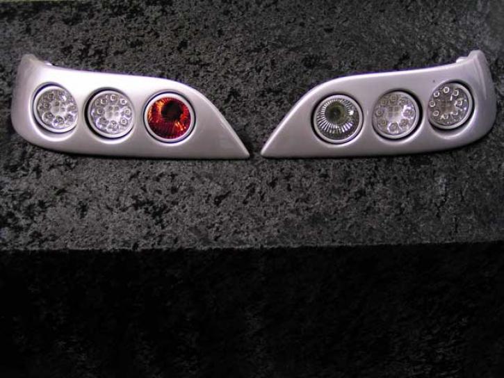 Modulrückleuchten Roadster LED silber