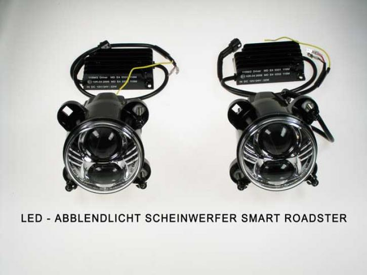 LED SCHEINWERFER Smart Roadster