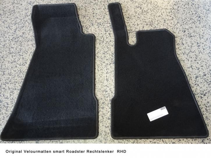 Fußmatten smart Roadster Rechtslenker RHD