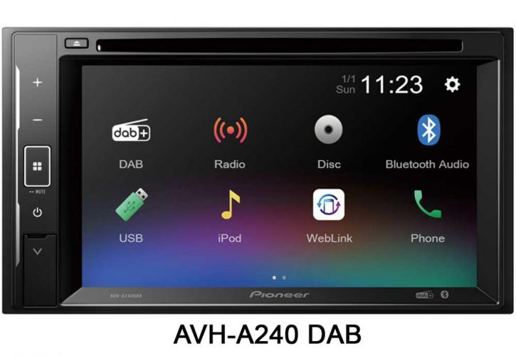 PIONEER AVH-A 240 DVD +DAB
