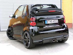 Heckdiffusor Race  schwarz smart 451