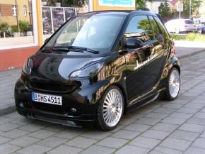 SCHEINWERFERBLENDEN smart 451 schwarz