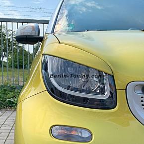 SCHEINWERFERBLENDEN smart 453 black-to-yellow
